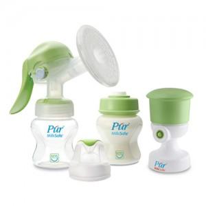 Bộ Hút sữa bằng tay Pur (gồm 2 bình sữa cổ rộng 130ml + dụng cụ hút chân không)