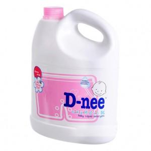 Nước Giặt Quần Áo Em Bé D-nee dạng can 3L (màu hồng)