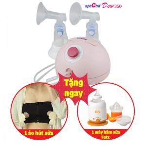 Máy hút sữa điện đôi Spectra Dew-350 (tặng áo hút sữa rảnh tay + máy hâm sữa Fatzbaby)