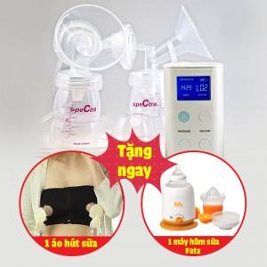 Máy hút sữa điện đôi Spectra 9 Plus (tặng áo hút sữa rảnh tay + máy hâm sữa Fatzbaby)