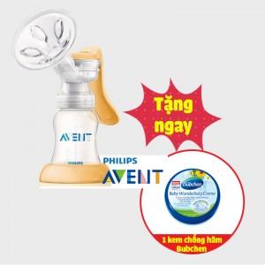 Máy hút sữa Avent bằng tay Masstige (tặng Kem Chống Hăm Bubchen 150ml)