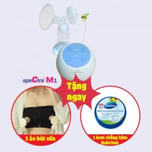 Máy hút sữa điện đơn Spectra M1 ( tặng áo hút sữa rảnh tay + Kem Chống Hăm Bubchen 150ml)