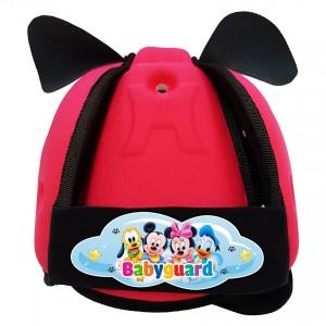 Nón bảo vệ đầu cho bé BabyGuard (Hồng) logo Mickey