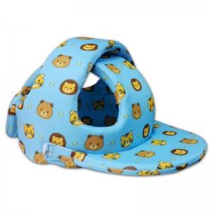 Nón bảo hiểm Babyguard Handmade - Mũ tập đi ( Màu xanh hình thú)