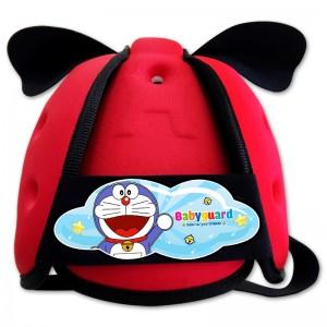 Mũ bảo vệ đầu cho bé BabyGuard (Đỏ) logo Doremon 01