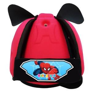 Mũ Bảo Vệ Đầu Cho Bé BabyGuard (Hồng) logo Người Nhện