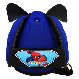 Mũ Bảo Vệ Đầu Cho Bé BabyGuard (Xanh Đậm) logo Người Nhện