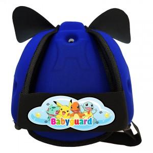 Mũ Bảo Vệ Đầu Cho Bé BabyGuard (Xanh Đậm) logo Pokemon 01
