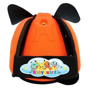 Mũ Bảo Vệ Đầu Cho Bé BabyGuard (Cam) logo Pokemon 01