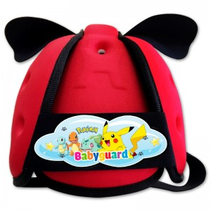 Mũ Bảo Vệ Đầu Cho Bé BabyGuard (Đỏ) logo Pokemon 02