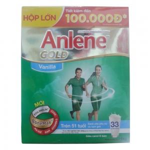 Sữa Anlene Gold  Vanilla Bonemax 1000g Hộp giấy