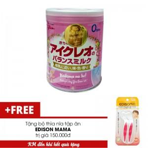 Sữa Glico Icreo số 0 800g tặng 1 bộ thìa nĩa tập ăn EDISON MAMA
