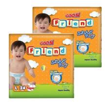 Bộ 2 tã dán Goo.n Friend size L 24 miếng(cho bé từ 9-14kg)