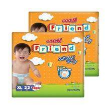 Bộ 2 tã dán Goo.n Friend size XL 22 miếng(cho bé từ 12-17kg)