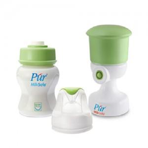 Dụng cụ hút chân không Pur và bình sữa cổ rộng 130ml
