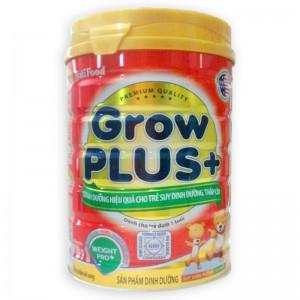 Sữa Nutifood GrowPlus+ dành cho trẻ suy dinh dưỡng thấp còi dưới 1 tuổi
