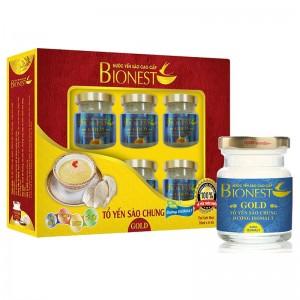 Yến sào Bionest Gold Isomalt cao cấp (dành cho người tiểu đường) - hộp quà tặng 6 lọ