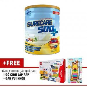 Sữa Surecare 500 plus 3+ 900g (3-15 tuổi) tặng đồ chơi lắp ráp hoặc đàn vui nhộn
