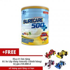 Sữa Surecare 500 plus 3+ 900g (3-15 tuổi) tặng 1 xe lắp ráp Votexity