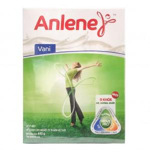 Sữa Anlene Vanilla 440g hộp giấy (từ 19 đến 45 tuổi)