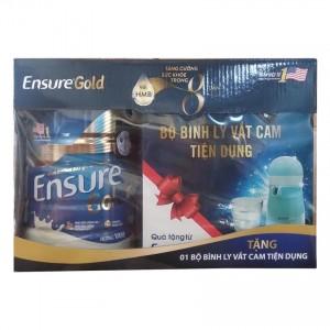Sữa Ensure Gold 850g tặng BỘ BÌNH LY VẮT CAM ENSURE