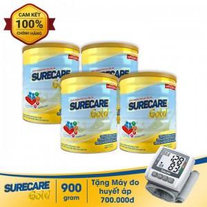Bộ 4 Sữa Surecare Gold 900g
