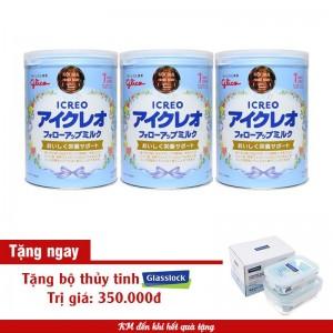 Bộ 3 Sữa Glico Icreo số 1 820g có quà tặng