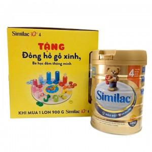 Sữa Similac IQ 4 900g tặng đồng hồ gỗ cho bé