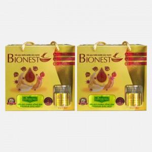 Bộ 2 hộp Yến sào Bionest Ginseng hồng sâm cao cấp - hộp tiết kiệm 6 lọ