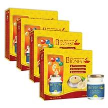 Bộ 4 Hộp Yến sào Bionest Gold Isomalt cao cấp (dành cho người tiểu đường) - hộp tiết kiệm 6 lọ