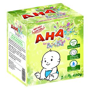 Bột giặt cao cấp AHA Baby 420g